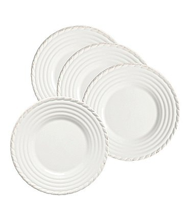 Image of Artimino 4-Piece Tuscan Countryside Rope-Edged Stoneware Salad Plate Set