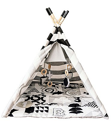 Image of Asweets ABC Striped Activity Teepee Play Tent