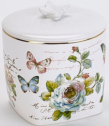 Image of Avanti Linens Butterfly Garden Covered Jar