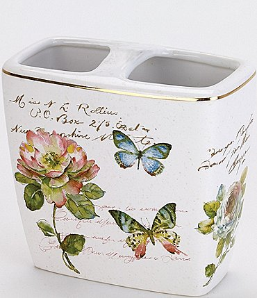 Image of Avanti Linens Butterfly Garden Toothbrush Holder
