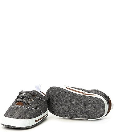 Image of Baby Deer Canvas Lace-Up Crib Shoe Sneakers