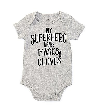Image of Baby Starters Baby 3-12 Months Short-Sleeve My Superhero Wears Masks & Gloves Bodysuit