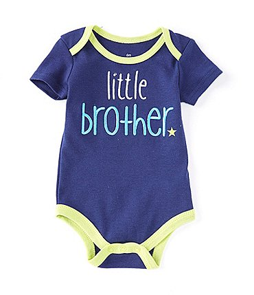 Image of Baby Starters Baby Boys 3-6 Months Short-Sleeve Lil Bro Onesie