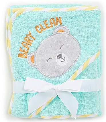 Image of Baby Starters Baby Boys Bear 1-Towel and 2-Pack Washcloth Bath Set