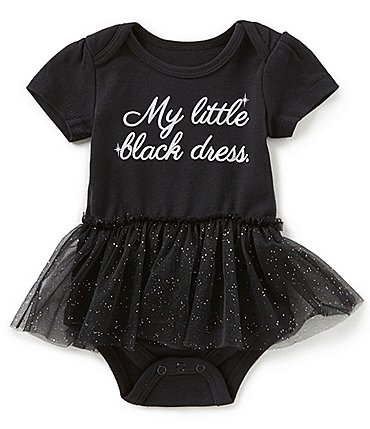 Image of Baby Starters Baby Girls Newborn-12 Months Little Black Dress Tutu Bodysuit