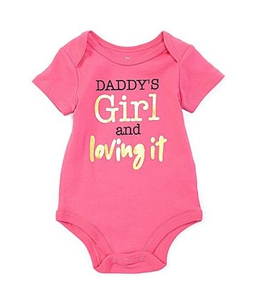 Image of Baby Starters Baby Girls 3-12 Months Short-Sleeve Daddy's Girl Bodysuit
