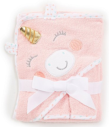 Image of Baby Starters Baby Girls Unicorn 1-Pack Towel and 2-Pack Washcloth Bath Set