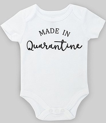 Image of Baby Starters Baby Newborn-6 Months Short-Sleeve Made In Quarantine Bodysuit