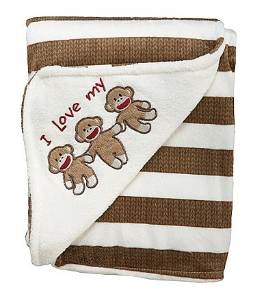 Image of Baby Starters Baby Sock Monkey Plush Blanket