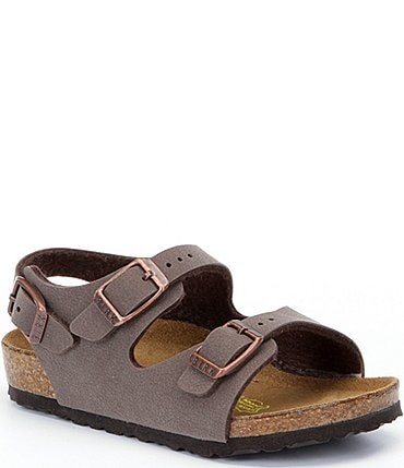 Image of Birkenstock Kids' Roma Adjustable Buckle Slingback Sandals (Toddler)