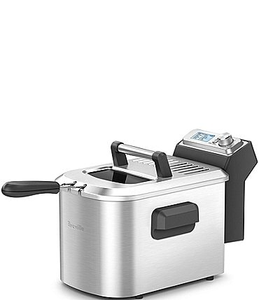 Image of Breville Smart Fryer 4.25-Quart, 7 Functions Brushed Stainless Steel Deep Fryer