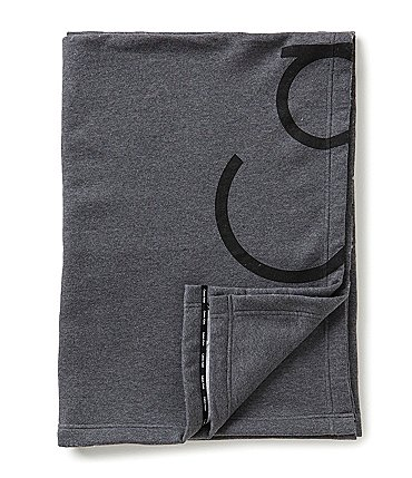 Image of Calvin Klein Cropped Logo Throw