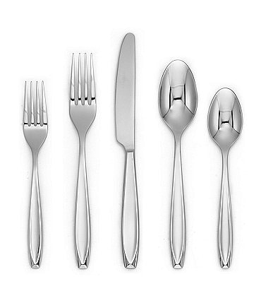 Image of Cambridge Silversmiths Seine 20-Piece Stainless Steel Flatware Set
