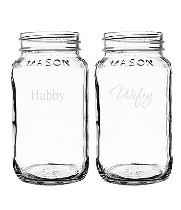 Image of Cathy's Concepts Hubby & Wifey Mason Jar Set