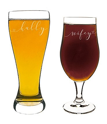 Image of Cathy's Concepts Hubby & Wifey Pilsner Glass Set