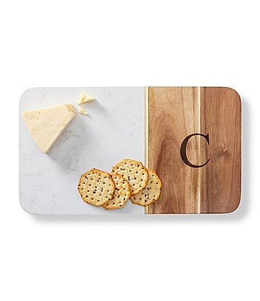 Image of Cathy's Concepts Initial Marble & Acacia Cheese Board