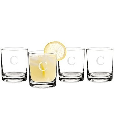 Image of Cathy's Concepts Initial 14 oz. Drinking Glasses Set of 4