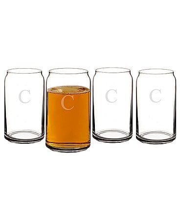 Image of Cathy's Concepts Personalized 16 oz. Craft Beer Can Glasses Set of 4