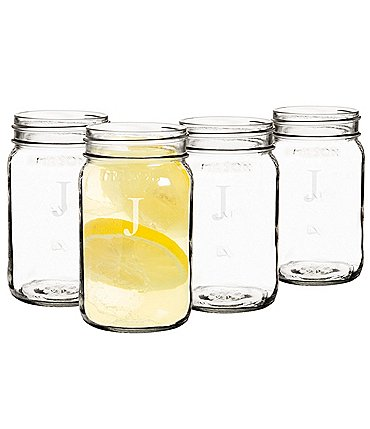 Image of Cathy's Concepts Personalized 16 oz. Mason Jars Set of 4