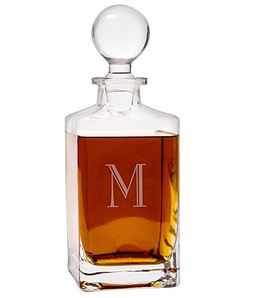 Image of Cathy's Concepts Initial 32-oz. Square Whiskey Decanter