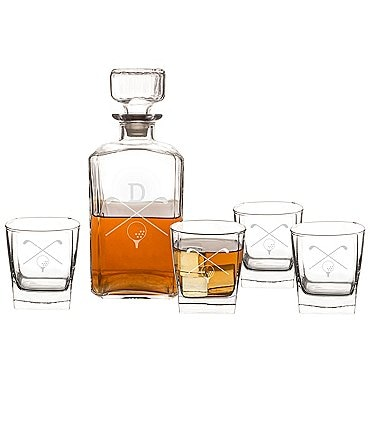 Image of Cathy's Concepts Initial 5-Piece Golf Decanter Set