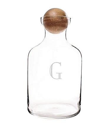 Image of Cathy's Concepts Personalized 56 oz. Glass Decanter with Wood Stopper