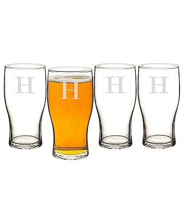 Image of Cathy's Concepts Initial Craft Beer Pilsner Glasses