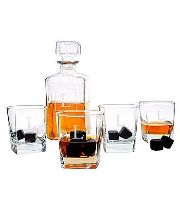 Image of Cathy's Concepts Personalized Decanter Set with Whiskey Stones