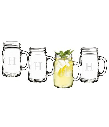 Image of Cathy's Concepts Initial Old Fashioned Drinking Jars