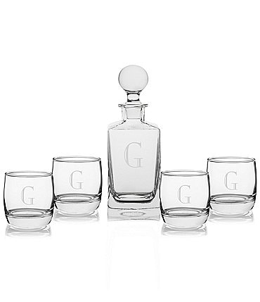 Image of Cathy's Concepts Personalized Square Decanter Set