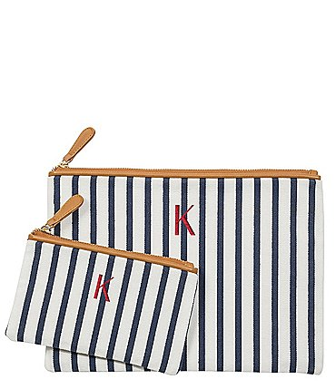 Image of Cathy's Concepts Personalized Striped Clutch Set