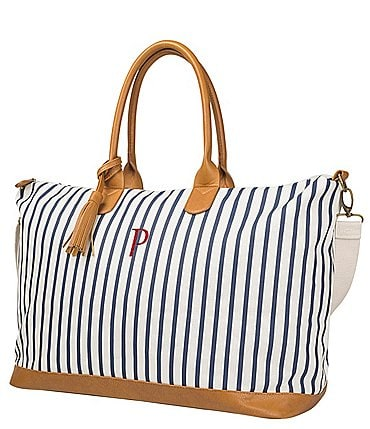 Image of Cathy's Concepts Personalized Striped Weekender Tote
