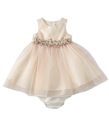 Image of Chantilly Place Baby Girls 3-24 Months Satin/Organza Tulle Fit-And-Flare Dress