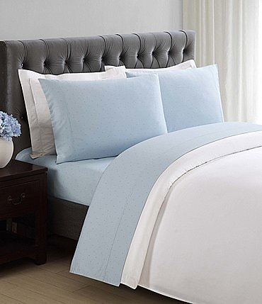 Image of Charisma 310 Thread Count Cotton Classic Dot Sheets