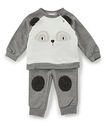 Image of Chick Pea Baby Boys Newborn-24 Months Raccoon Top & Jogger Set