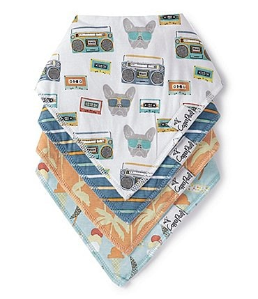 Image of Copper Pearl Baby Boys Bruno Bandana Bibs 4-Pack