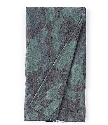 Image of Copper Pearl Baby Hunter Camo Print Knit Swaddle Blanket