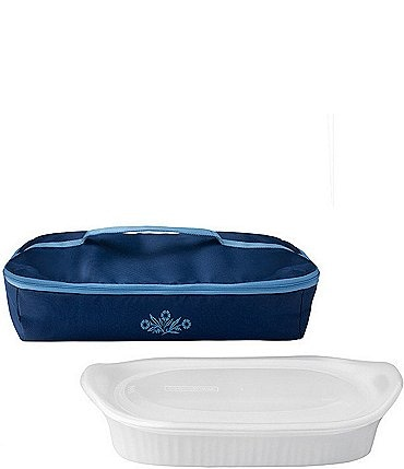 Image of CorningWare 60th Anniversary Cornflower 3-Quart Portable Set