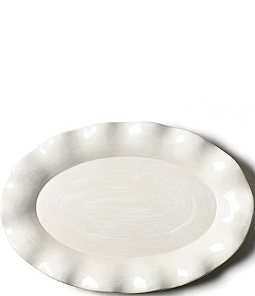 Image of Coton Colors Signature White Oval Platter