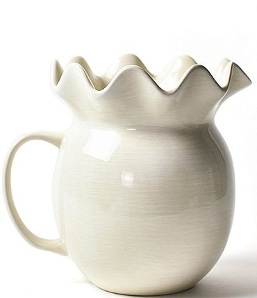 Image of Coton Colors Signature White Ruffle Pitcher