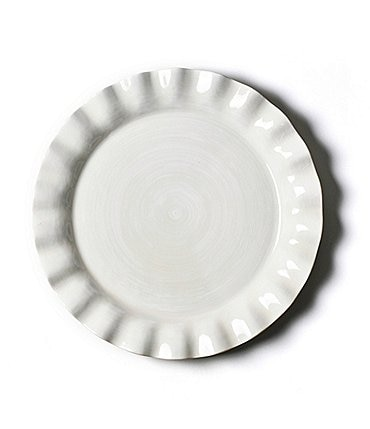 Image of Coton Colors Signature White Ruffle Round Platter