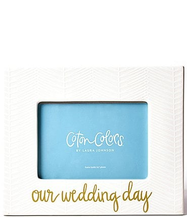 "Image of Coton Colors White Herringbone ""Our Wedding Day"" Frame"
