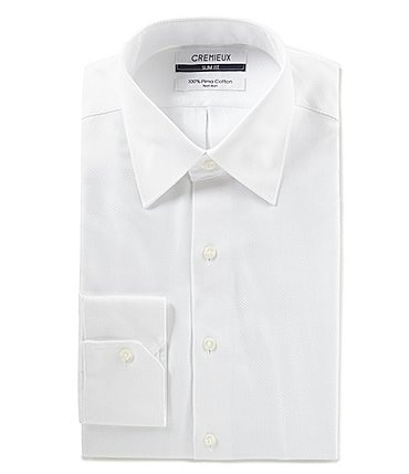 Image of Cremieux Non-Iron Slim Fit Spread Collar Solid Dress Shirt