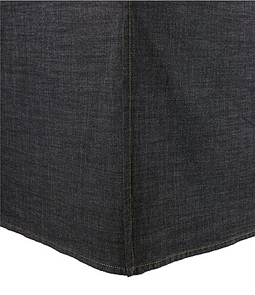 Image of Cremieux Vintage Denim Bed Skirt