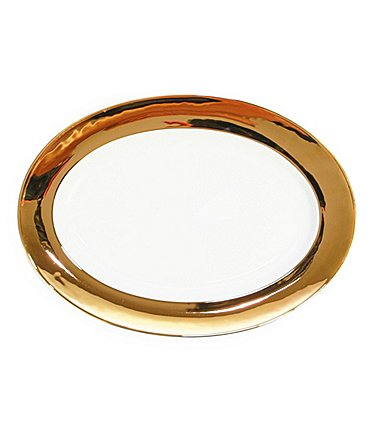 Image of Darbie Angell Monaco 24KT Gold Oval Platter
