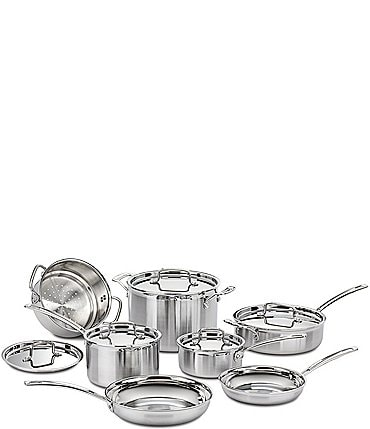 Image of Cuisinart 12-Piece Multiclad Pro Triple-Ply Stainless Steel Cookware