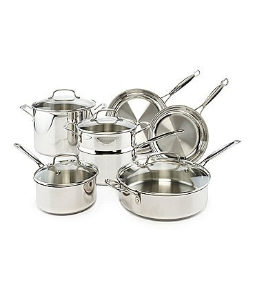 Image of Cuisinart Chef's Classic Stainless Steel 11-Piece Cookware Set