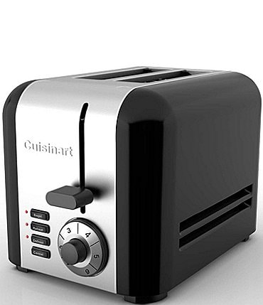Image of Cuisinart Stainless Steel & Black 2-Slice Toaster