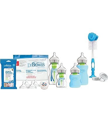 Image of Dr. Brown's Options+ Glass Baby Bottle Starter Gift Set