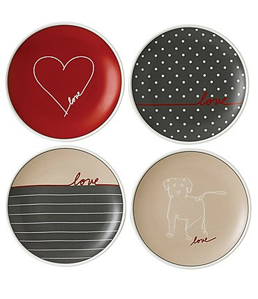 "Image of ED Ellen DeGeneres Crafted by Royal Doulton Signature Collection 4-Piece 6"" Accent Plate Set"
